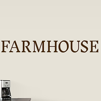 SweetumsWallDecals Farmhouse Wall Decal; Brown