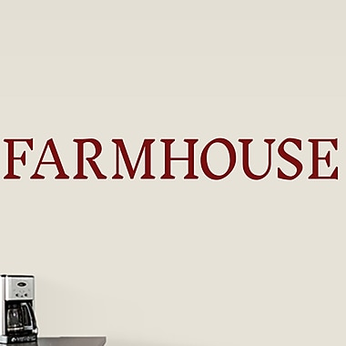 SweetumsWallDecals Farmhouse Wall Decal; Cranberry