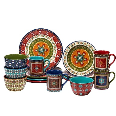 World Menagerie Brimson 16 Piece Dinnerware Set, Service for 4