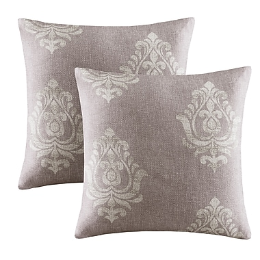 Alcott Hill Morrisdale Texture Throw Pillow (Set of 2); Grey