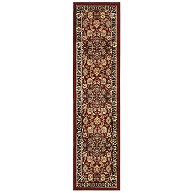 Astoria Grand Carrie Persian Red/Black Area Rug; Runner 1'10'' x 6'9''