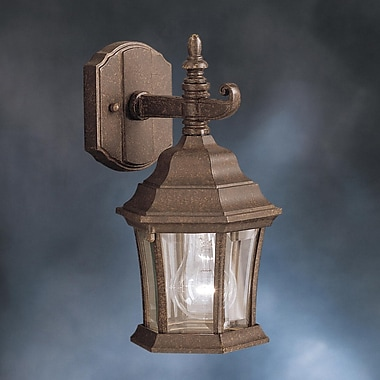 Astoria Grand Connan 1-Light Outdoor Wall Lantern; Tannery Bronze