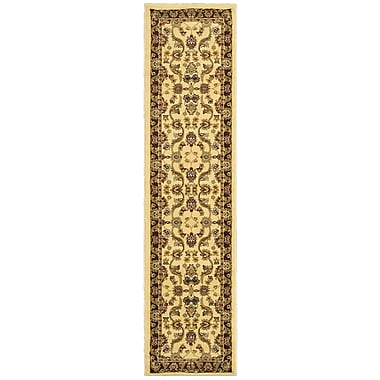 Charlton Home Rowena Persian Cream/Brown Area Rug; Runner 1'10'' x 6'9''