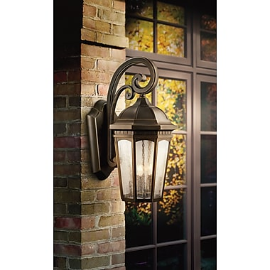 Darby Home Co Flinders 3-Light Outdoor Wall Lantern; Rubbed Bronze