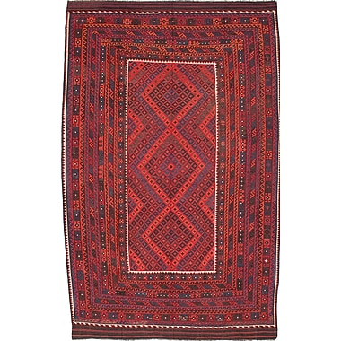 World Menagerie Bruntons Hand-Woven Red Area Rug