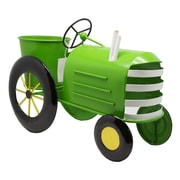 Alpine Metal Tractor Planter; Lime Green