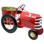 Alpine Metal Tractor Planter; Red