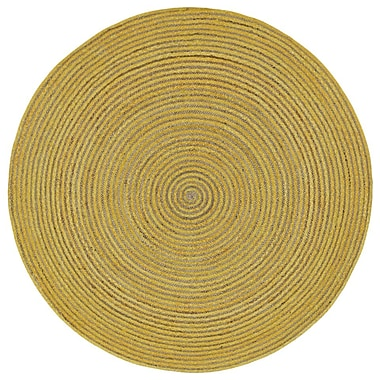 August Grove Latour Hand-Loomed Yellow Area Rug; Rectangle 5' x 8'