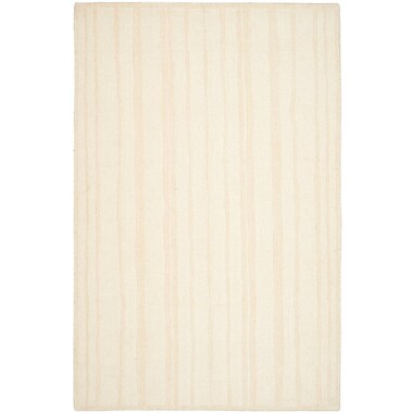 Martha Stewart Rugs Freehand Stripe Hand-Loomed Fossil Area Rug; Rectangle 9' x 12'