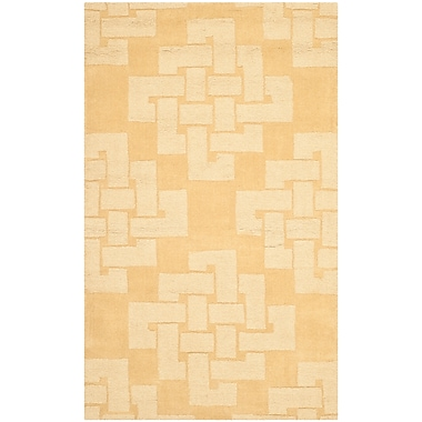 Martha Stewart Rugs Knot Hand-Tufted Rattan Area Rug; Rectangle 3' x 5'