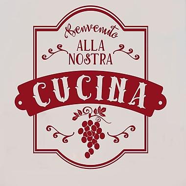 Enchantingly Elegant Benvenuto Alla Nostra Cucina Italian Vinyl Word Lettering Kitchen Wall Decal