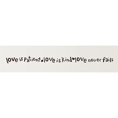 Enchantingly Elegant Love Is Patient Love Is Kind Religious Bible Verse Vinyl Wall Decal