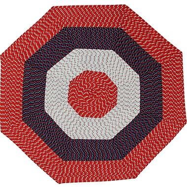 Red Barrel Studio McClure Stripe Area Rug; Octagonal 6'