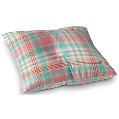 Darby Home Co Belliere Plaid Indoor/Outdoor Floor Pillow; 23'' H x 23'' W x 8'' D