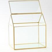 Diamond Star Glass Glass Terrarium; Gold