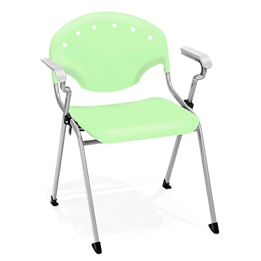 Latitude Run Oleanna Stacking Chair (Set of 4); Lime Green