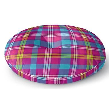 Latitude Run Harloe Plaid Indoor/Outdoor Floor Pillow; 23'' H x 23'' W x 8'' D