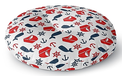 Longshore Tides Mercer Indoor/Outdoor Floor Pillow; 26'' H x 26'' W x 8'' D
