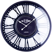 17 Stories Oversized Angeline Iron 31.5'' Wall Clock w/ MDF