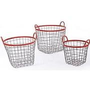 17 Stories Multi-Purpose Oval Metal 3 Piece Basket Set