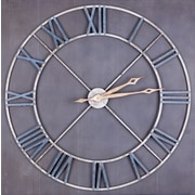 17 Stories Oversized Juana Square Wood and Circular Metal 37.5'' Wall Clock