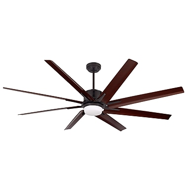 Darby Home Co 72'' Espinosa 8 Blade LED Fan; Oil-Rubbed Bronze