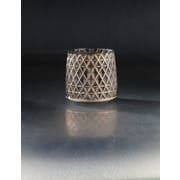 Diamond Star Glass Table Vase; Smoke