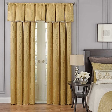 Beautyrest Yvon Blackout 48'' Curtain Valance; Gold