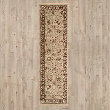 Darby Home Co Gambrinus Machine Woven Brown/Beige Area Rug