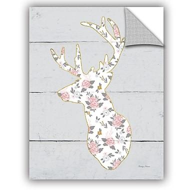 ArtWall Cleonique Hilsaca Floral Deer II Wall Decal; 18'' H x 14'' W x 0.1'' D