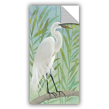 ArtWall Katherine Lovell Egret by the Shore I Wall Decal; 24'' H x 12'' W x 0.1'' D