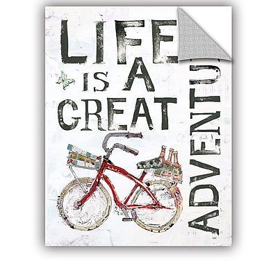 ArtWall Kellie Day Life is a Great Adventure Wall Decal; 24'' H x 18'' W x 0.1'' D