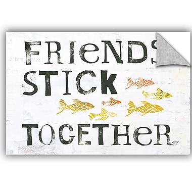ArtWall Kellie Day Friends Stick Together Wall Decal; 12'' H x 18'' W x 0.1'' D