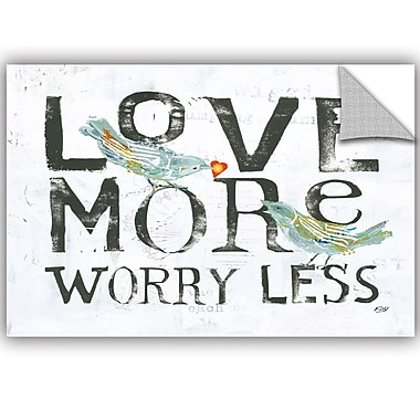 ArtWall Kellie Day Love More Worry Less Wall Decal; 32'' H x 48'' W x 0.1'' D