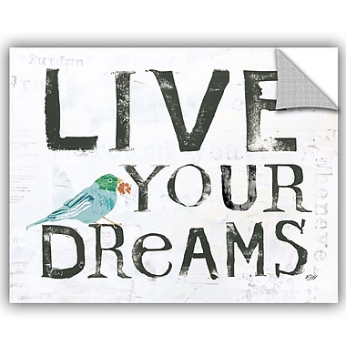 ArtWall Kellie Day Live Your Dreams Wall Decal; 14'' H x 18'' W x 0.1'' D