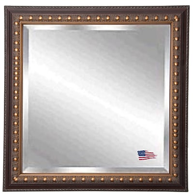 Darby Home Co Square Traditional Wood Wall Mirror