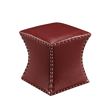 InRoom Designs Ottoman; Red