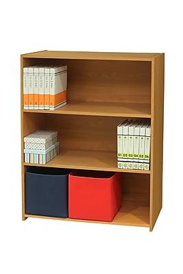 InRoom Designs 3 Tier Standard Bookcase; Light Brown