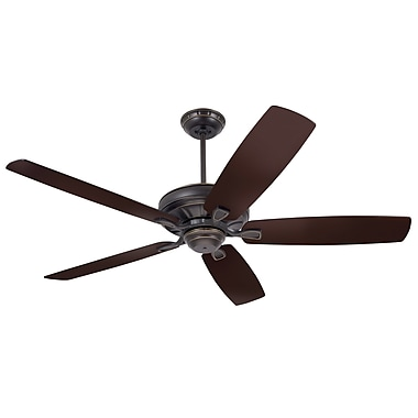 Red Barrel Studio 60'' Millersport 5 Blade Fan; Golden Espresso