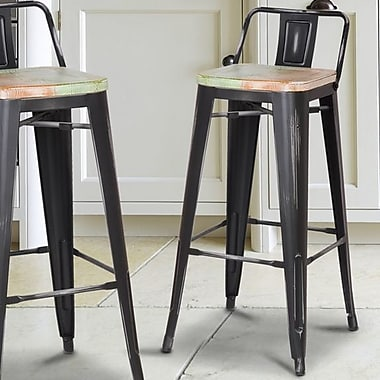 17 Stories Kensington 30'' Bar Stool; Multi-Color