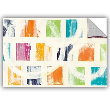 ArtWall Wild Apple Color Block II Crop Wall Decal; 12'' H x 18'' W x 0.1'' D