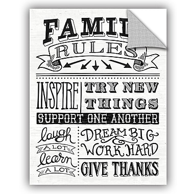 ArtWall Mary Urban Family Rules II Wall Decal; 10'' H x 8'' W x 0.1'' D