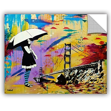 ArtWall ABC Art Attack Shelter at Bay Wall Decal; 24'' H x 32'' W x 0.1'' D