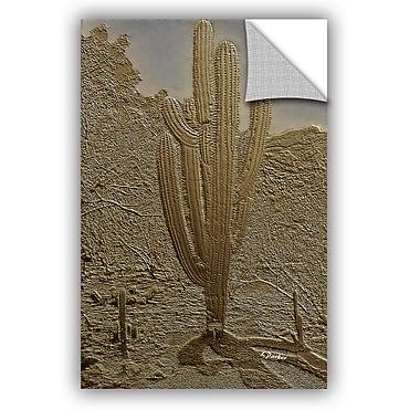 ArtWall Linda Parker Bronze Saguaro Wall Decal; 12'' H x 8'' W x 0.1'' D
