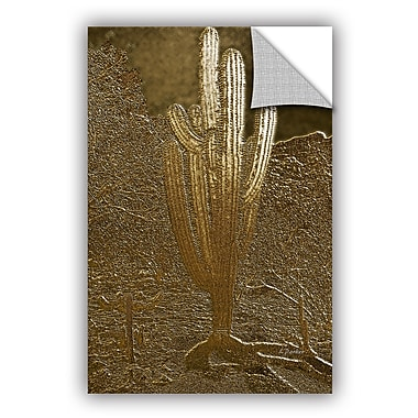 ArtWall Linda Parker Gold Saguaro Wall Decal; 18'' H x 12'' W x 0.1'' D