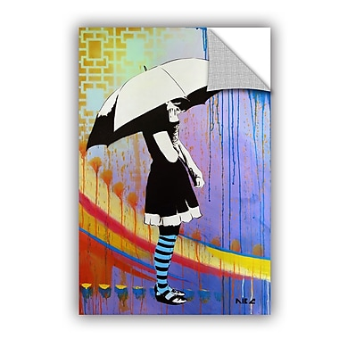 ArtWall ABC Art Attack Waiting for the Rain Wall Decal; 12'' H x 8'' W x 0.1'' D
