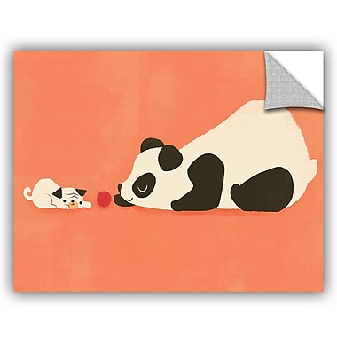 ArtWall Jay Fleck The Pug and the Panda Wall Decal; 18'' H x 24'' W x 0.1'' D