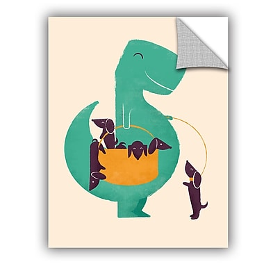 ArtWall Jay Fleck Trex and the Basket Wall Decal; 18'' H x 14'' W x 0.1'' D