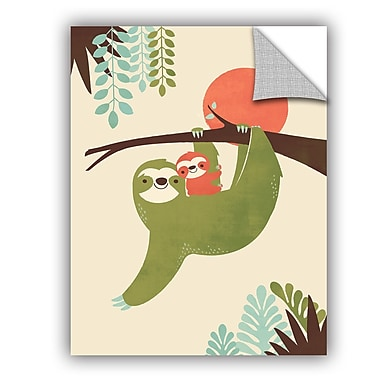ArtWall Jay Fleck Mama Sloth Wall Decal; 32'' H x 24'' W x 0.1'' D