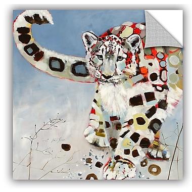 ArtWall Britt Freda Snow Leopard Wall Decal; 10'' H x 10'' W x 0.1'' D